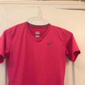 Nike Pro pink workout shirt
